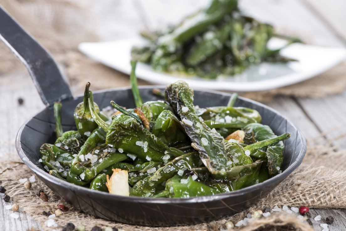 Spanish tapas: padron peppers