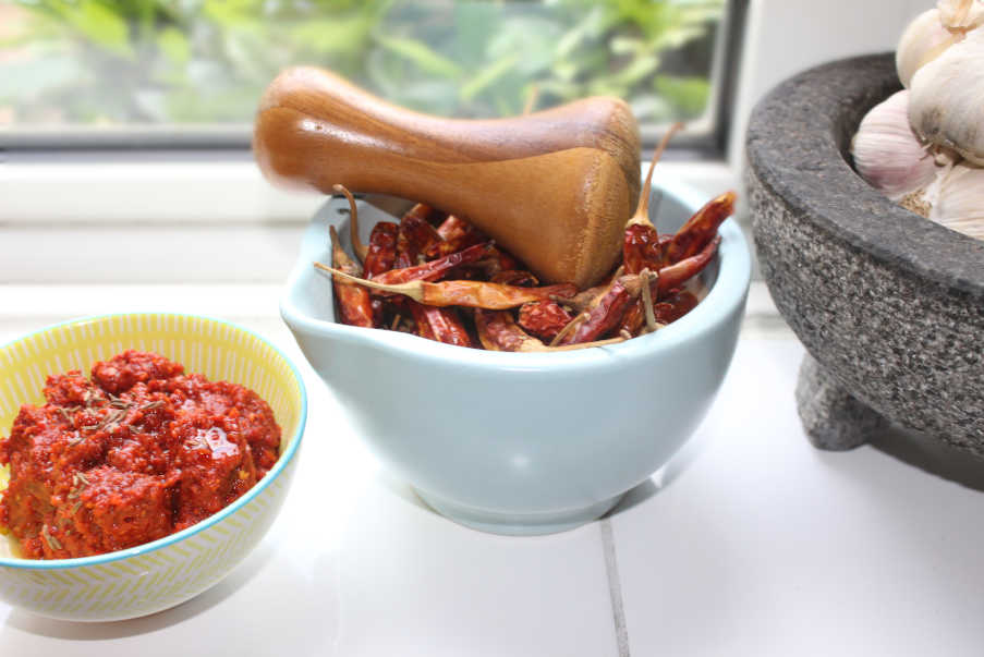 Harissa paste for North African Cooking