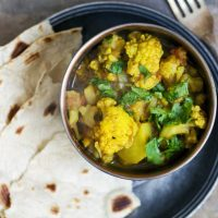 aloo-boby - indian potato and cauliflower curry